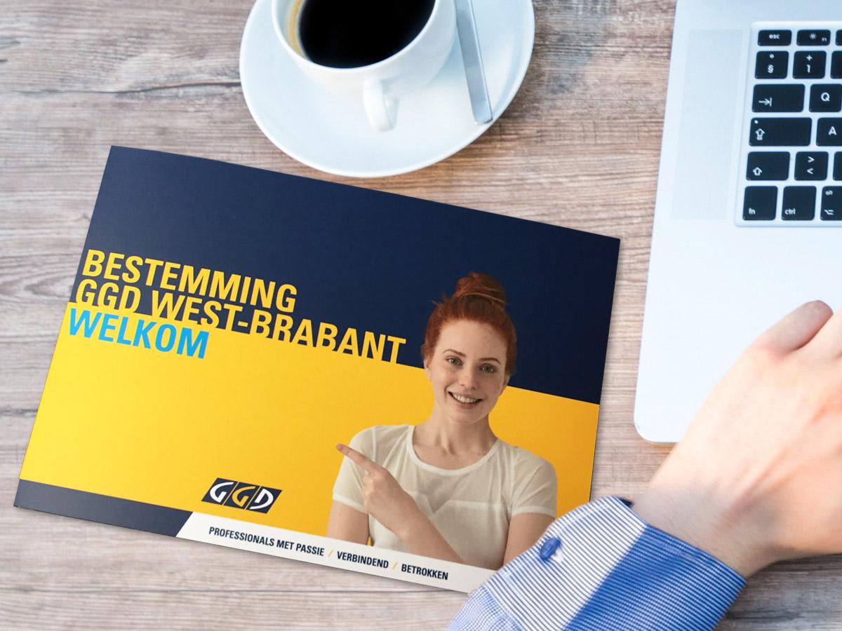 Welkomstmapje voor GGD West Brabant