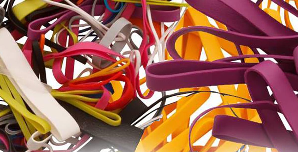 Gekleurde elastieken