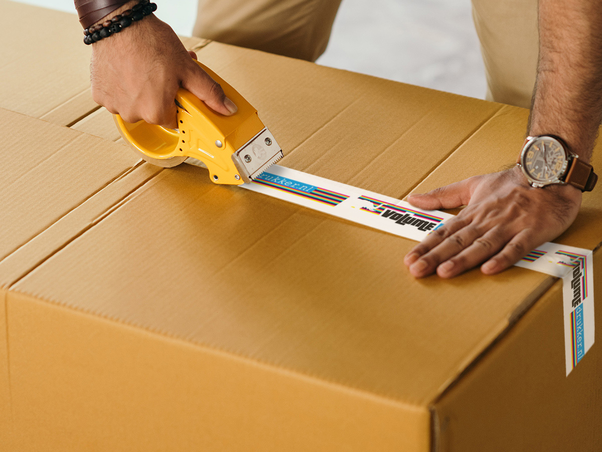 Verpakkingstape onder druk